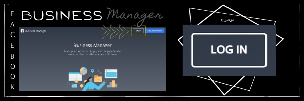 Picture of screenshot showing the Business Manager log in button.